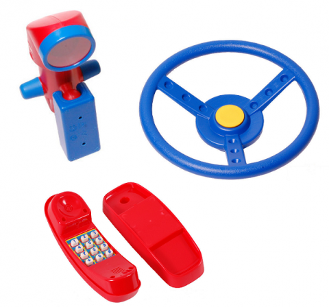 Periscope Steering Wheel Climbing Frame Set of 3 Accessories Telephone