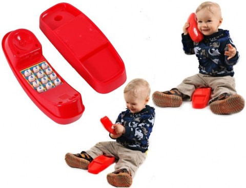 plastic kids telephone toy phone for childrens climbing frame tree house play house accessory5