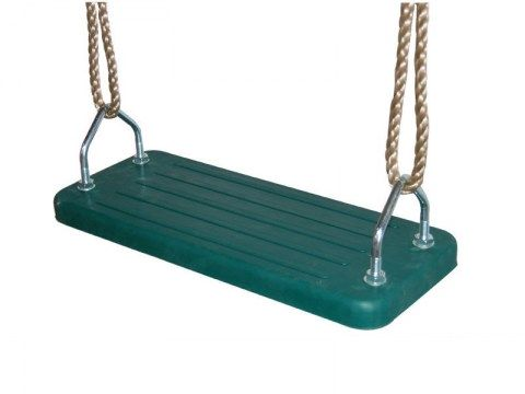 rubber swing seat commercial metal insert single seat ropes ropeset