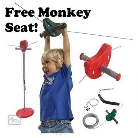 zip wire full package monkey seat for kids zip line domestic