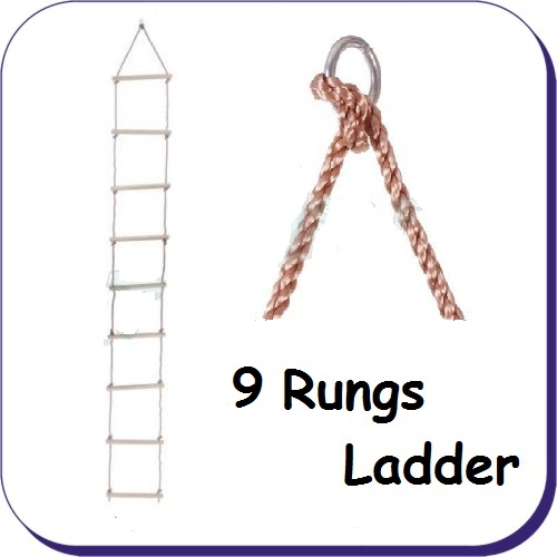 Ropes Ladders Amp Nets Rope Ladder 9 Rung Pp Rope 3 4m Long